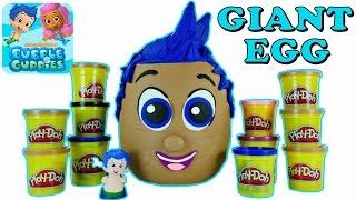 jumbo play doh bubble guppies egg surprise plastilina gigante huevo sorpresa