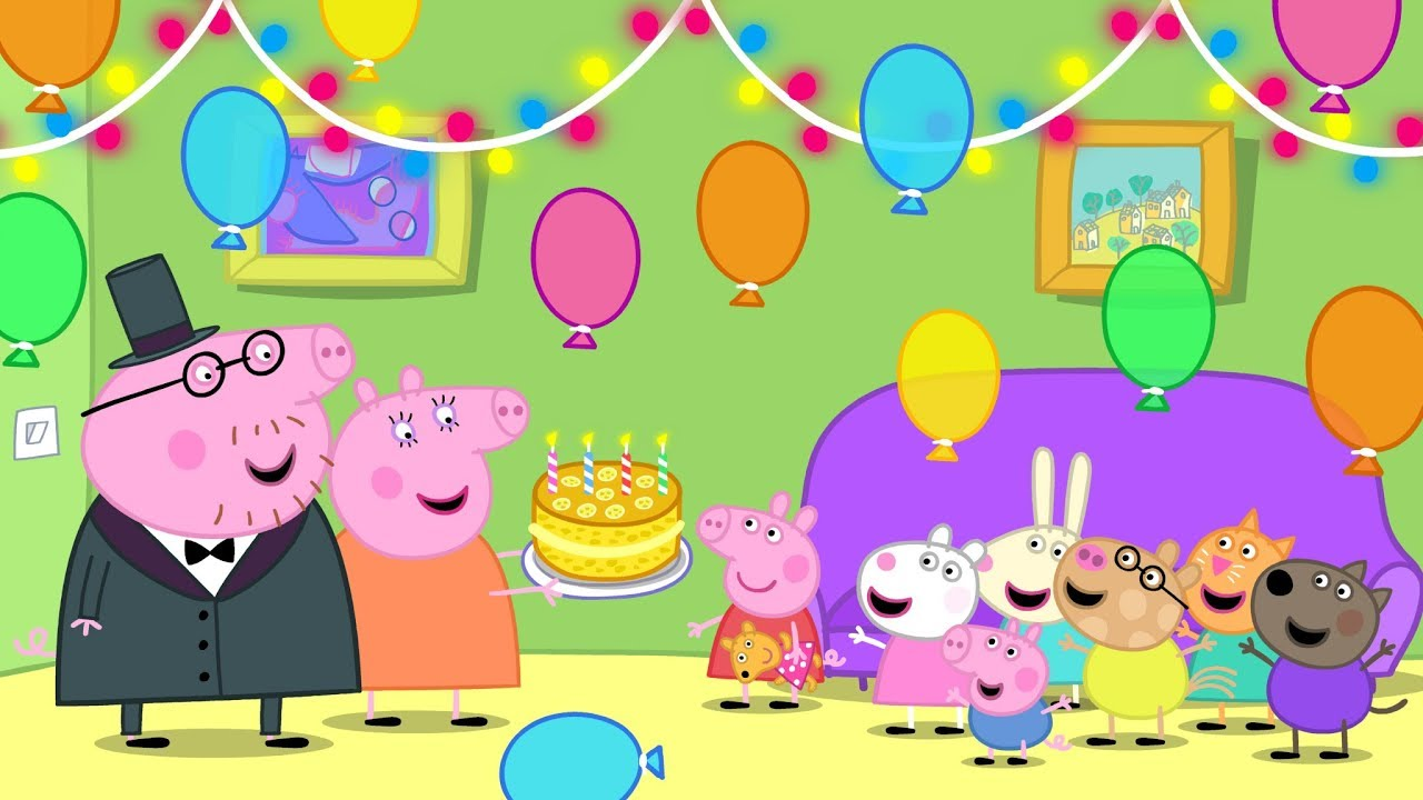 Happy Birthday Song Traditional With Peppa Pig Youtube
