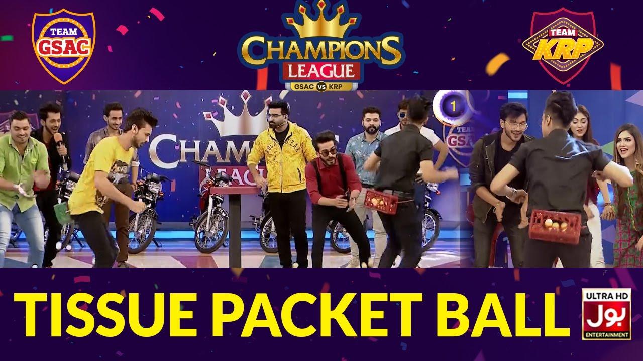 Tissue Packet Ball | Champions League | Game Show Aisay Chalay Ga vs Khush Raho Pakistan