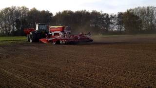 Pottinger terrasem C6 drill on demo in Norfolk