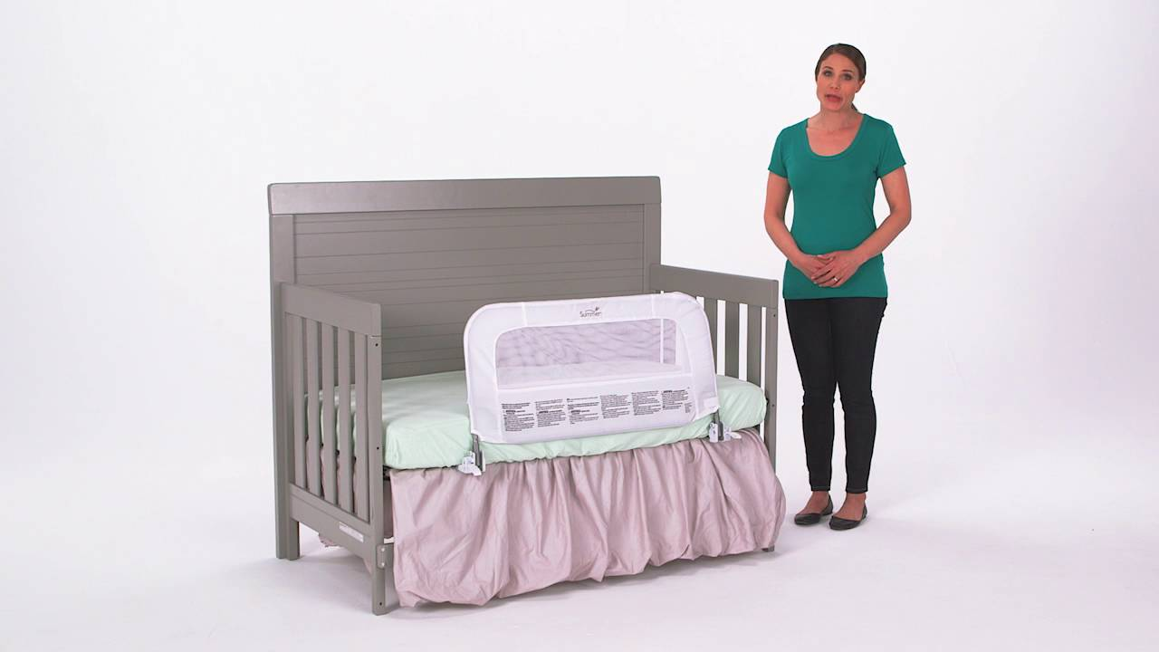 Summer Infant  Convertible Crib Rail To Bedrail Product Video Youtube