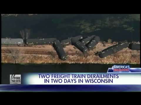 Wisconsin  Two freight trains derail in two days   Fox News Video