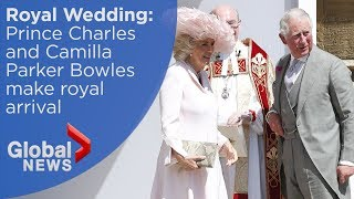 Royal Wedding: Prince Charles, Camilla Parker Bowles arrive at St George's Chapel