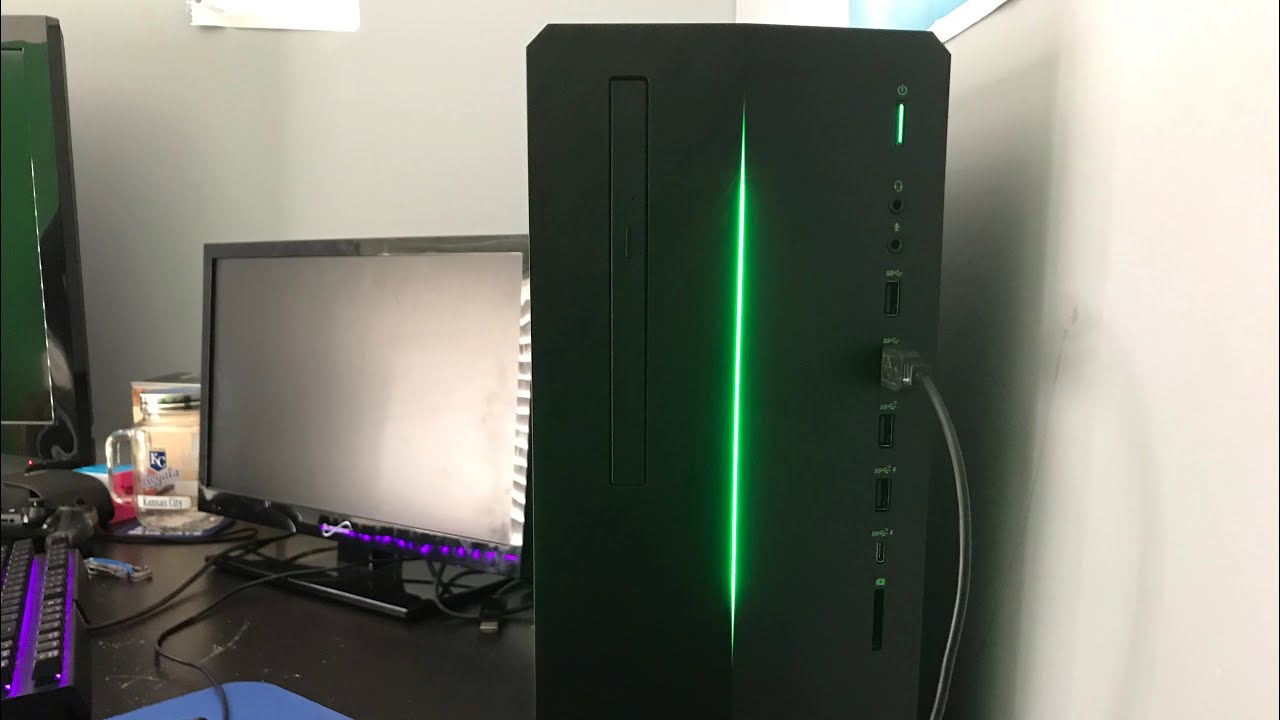 Hp Pavilion Gaming Pc Unboxing And Fortnite Review Youtube