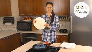 Szybka pizza na śniadanie, obiad czy kolację i to z patelni! Zawijana pizza z tortilli. MENU Dorotki
