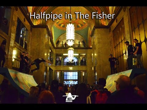 Halfpipe in The Fisher Building. Detroit, MI.