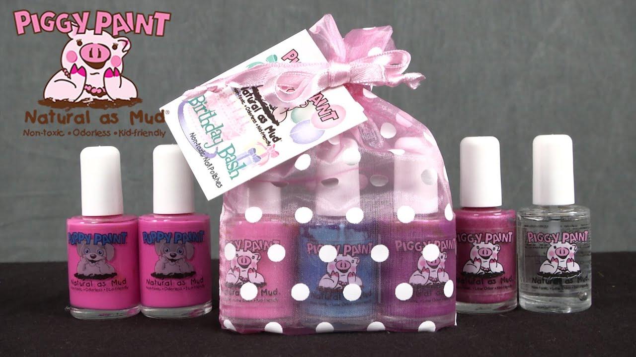 Piggy Paint Base Coat, Girls Rule & Bairthday Bash Nail Polish from ...