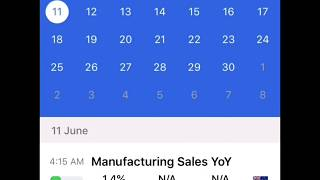 FX Calendar Review - best app for getting Market News alerts