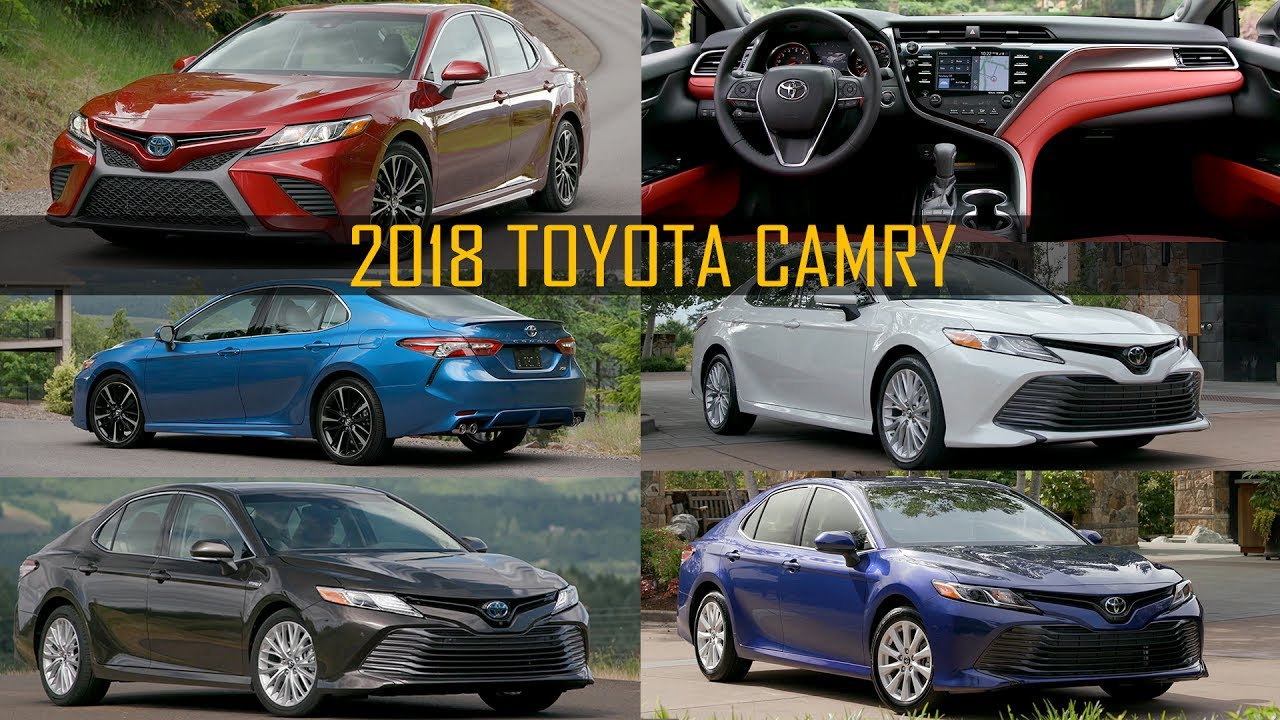 2018 toyota camry range le xle se hybrid xse xle. Black Bedroom Furniture Sets. Home Design Ideas