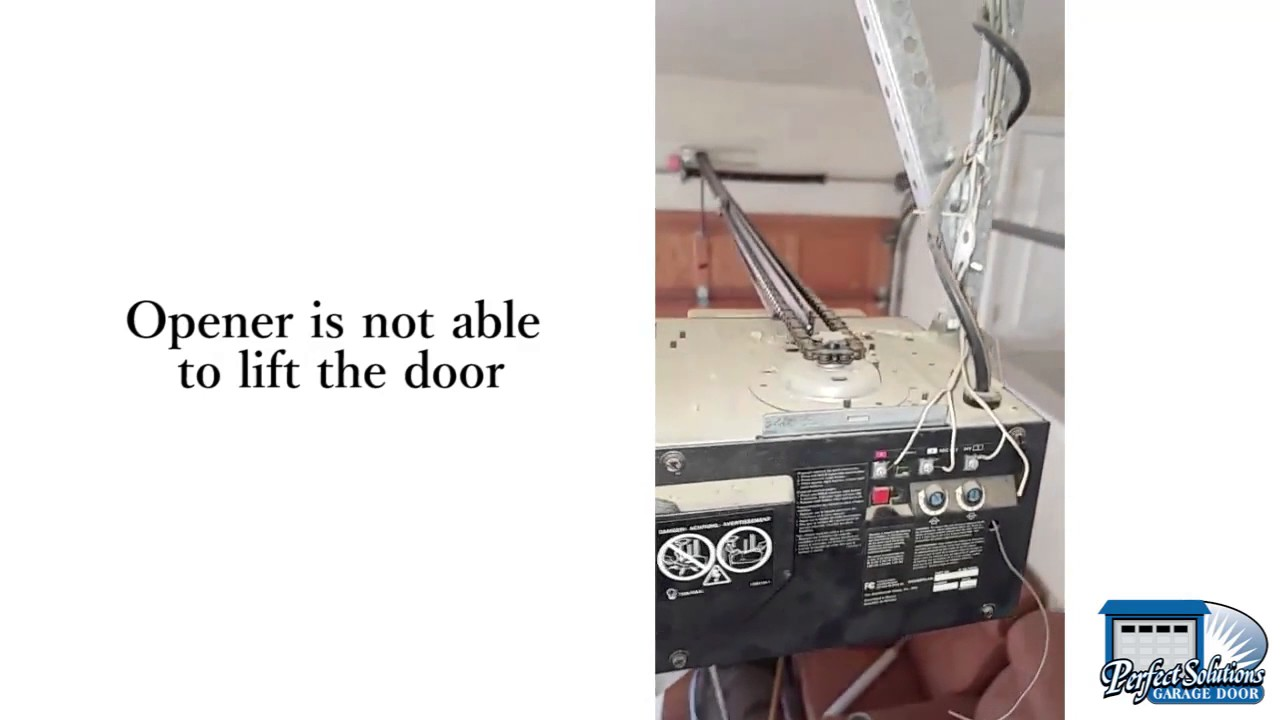 Garage Door Makes a Sound But Wont Open  YouTube