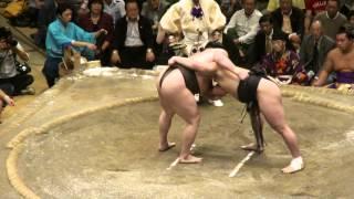 20120923 大相撲秋場所千秋楽 日馬富士vs白鵬 日馬富士全勝優勝、2連...