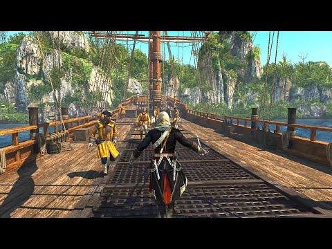 Assassin's Creed 4 Black Flag - Master Assassin Stealth Kills, Intense Combat & Ship Infiltration