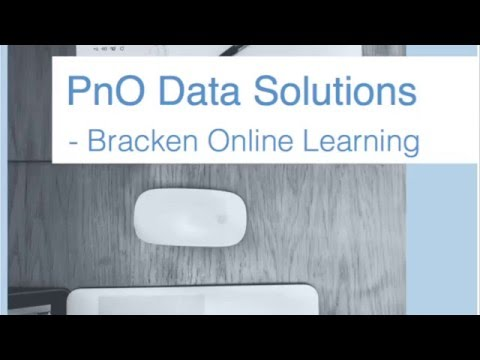 PnO Data Solutions Online Learning Overview