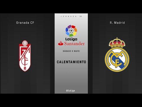 Calentamiento Granada vs R. Madrid