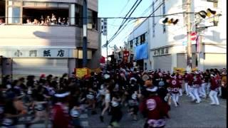 岸和田だんじり祭り 2014(平成26年度) 小門貝源 本宮 17:00~やりまわし...
