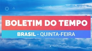 Previsão Brasil - Tempo instável no Sudeste