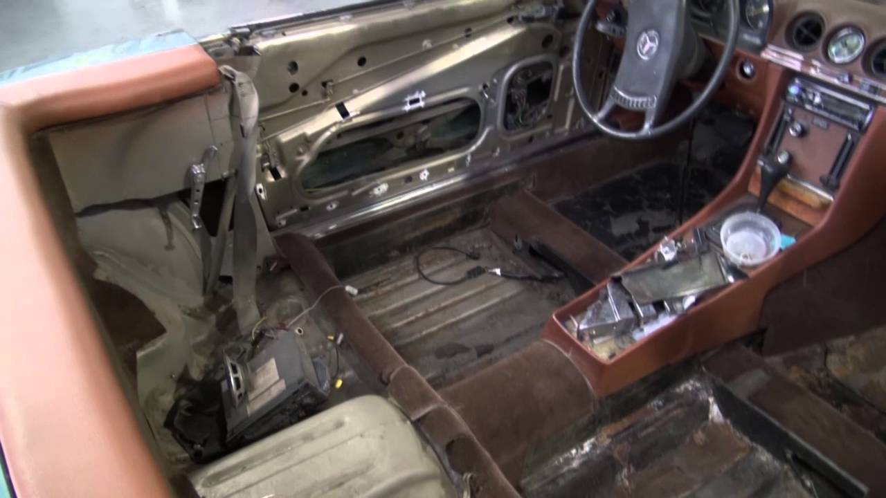 Mercedes 450sl Interior And Convertible Top Restoration And