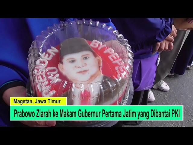 Prabowo Ziarah ke Makam Gubernur Jatim yang Dibantai PKI
