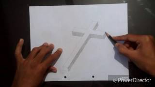 How to draw 3D cross sketch very easly