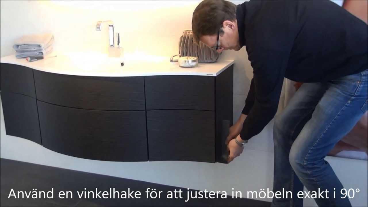 Justera lådorna för ditt JOY badrumsskåp Svedbergs Service YouTube