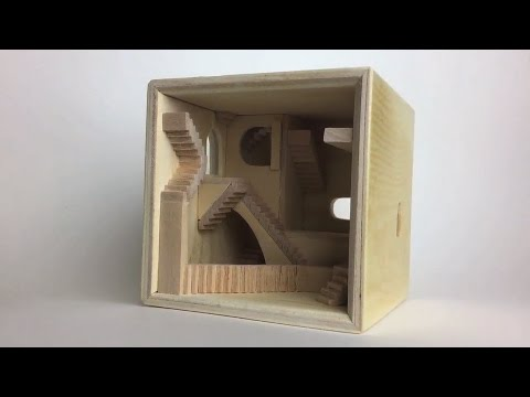 M.C. Escher Staircase Cube Build