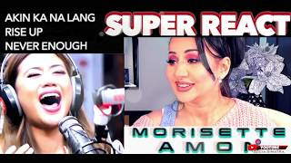 Cover images Vocal Coach REACTS to MORISSETTE AMON Akin Ka NaLang + Rise Up + Never Enough    Lucia Sinatra