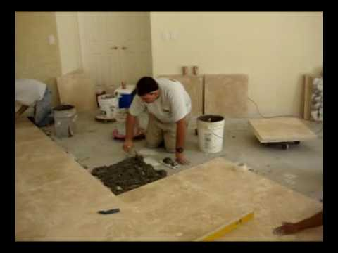 How To Install Travertine 24x24 Latte Youtube