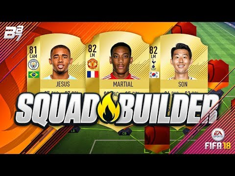 OVERPOWERED SQUAD BUILDER! w/ ANTHONY MARTIAL AND GABRIEL JESUS! | FIFA 18 ULTIMATE TEAM