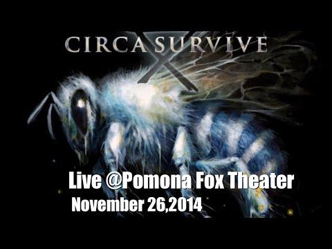 Circa Survive Live VIP @ Pomona Fox Theater November 26,2014