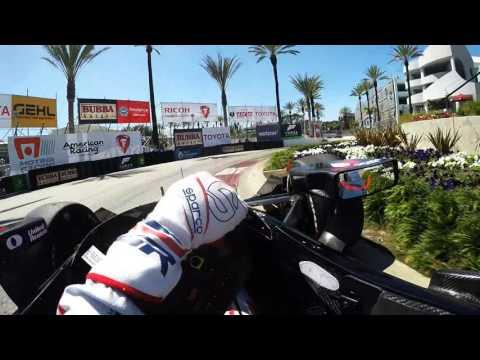 Visor Cam: Graham Rahal At The Toyota Grand Prix of Long Beach