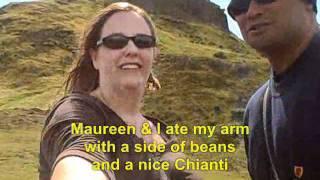 Fidel and Maureen Climbing up Holyrood Park, Edinburgh, Scotland