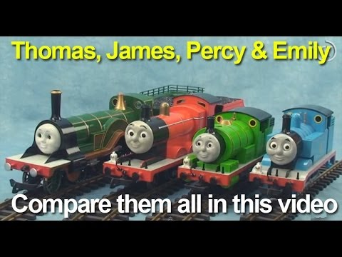 Thomas and Friends, Thomas the Tank Engine, Percy, James and Emily:  See them all together