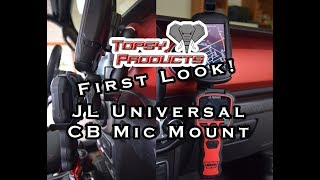 Jeep Wrangler JL Universal CB Mic Mount *BEST* by Topsy Products   First Look thumbnail