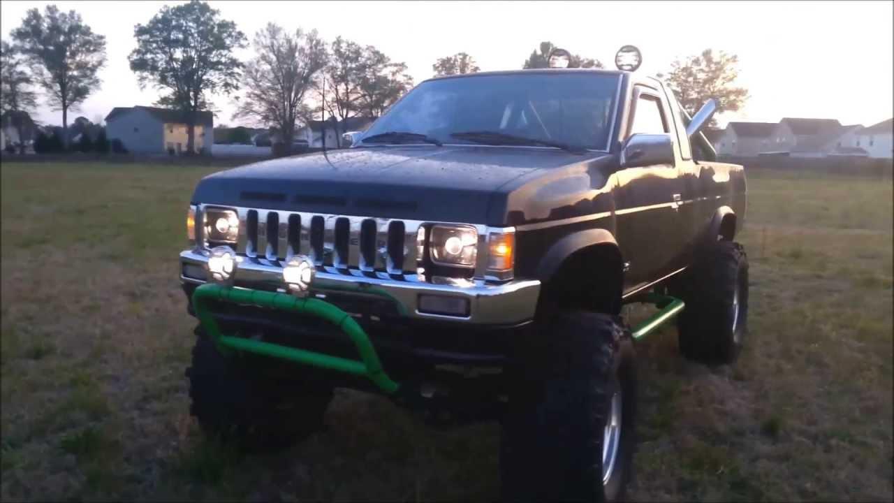 D21 Mud Truck Black Green Nissan Youtube