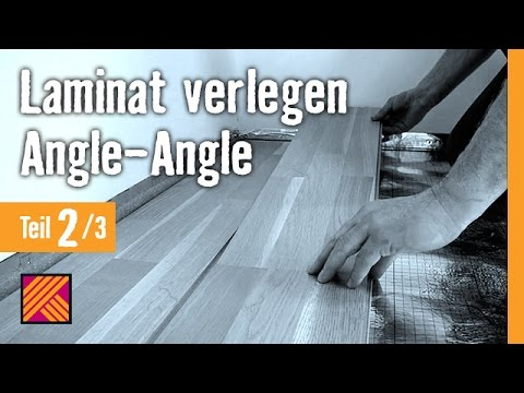 version 2013 laminat verlegen angle angle kapitel 2 dielen verlegen youtube. Black Bedroom Furniture Sets. Home Design Ideas