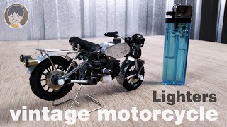 AWESOME DIY TOYS ! MINIATURES VINTAGE MOTORCYCLE MADE FROM CHEAP LIGHTERS