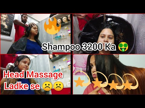 I Went To The Best Reviewed Salon for Hair In India Lucknow||Head Massage||Hair Wash