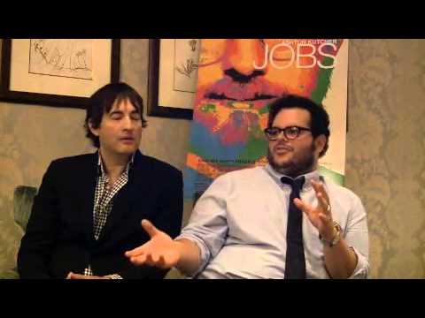 with Joshua Michael Stern and Josh Gad on 'Jobs'
