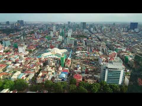 กรุงพนมเปญ กัมพูชา จากมุมสูง, Phnom Penh, Aerial View, เราเคยมาที่นี่ C9 ...
