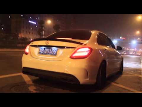 New Benz C200 W205 w/ ARMYTRIX Valvetronic Exhaust - Deep Roar!
