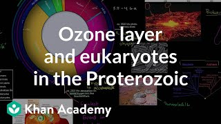 Ozone layer and eukaryotes show up in the Proterozoic eon | Cosmology & Astronomy | Khan Academy
