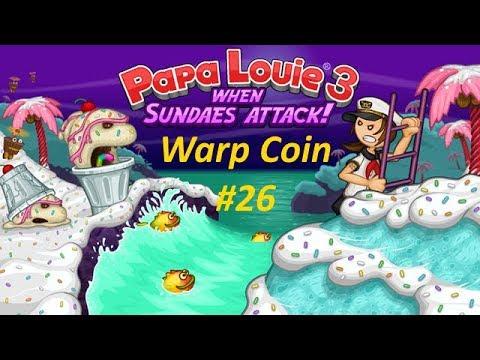 Papa Louie 3: When Sundaes Attack! - Warp Coin #26 - Level 5: Rescue Akari