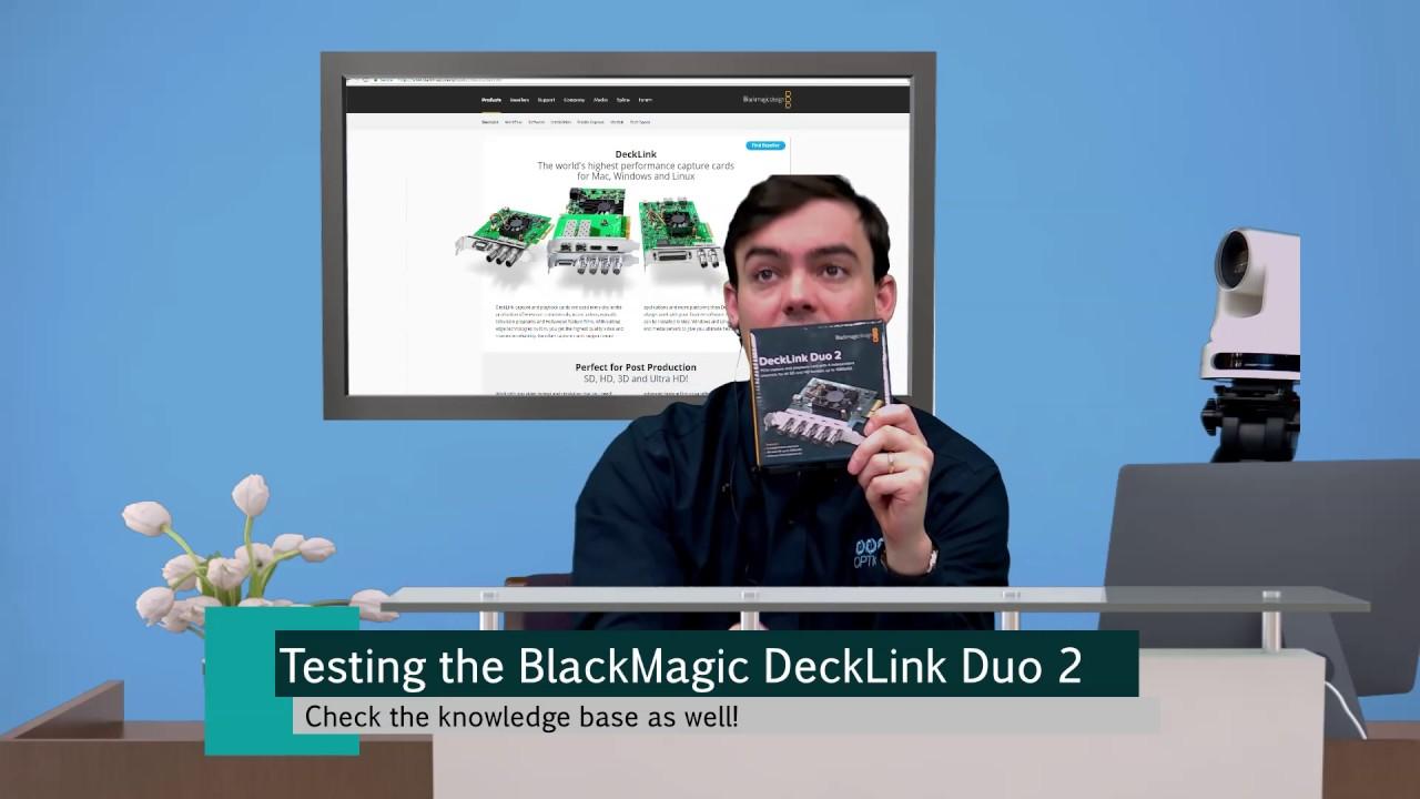 Blackmagic Decklink Duo 2 Camera Integration Youtube