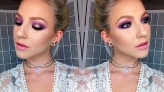 Purple & Gold + Pink Lips | Tutorial