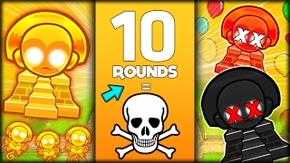YOUR TOWERS DIE EVERY 10 ROUNDS - DEATH CHALLENGE In BLOONS TD 5 STRATEGY (Bloons Tower Defense 5)