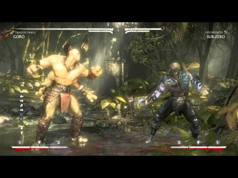 MKXL   ULTIMATE GORO COMBO TUTORIAL   ALL 3 variations (after patch)