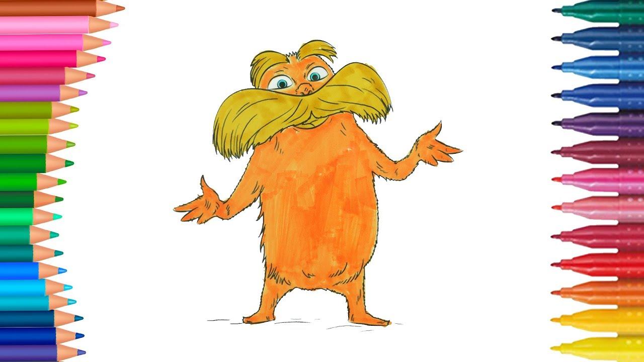 Dibujar y Colorea El Lorax - Dr. Seuss | Dibujos Para Niños | Learn ...