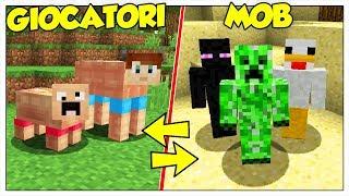 COSA SUCCEDE SE MOB E GIOCATORI SI SCAMBIANO DI POSTO? - Minecraft ITA