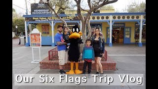 Our Six Flags Trip (Damian&#39s 1st Time) Vlog