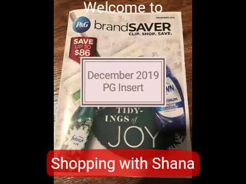 P&G Coupon Insert for December 2019